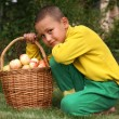 Boy with apples — Stock Photo #2731343