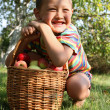 Boy with apples — Stock Photo #2736099