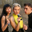 Stock Photo: Singers trio