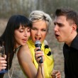 Singers trio — Stock Photo #2759279