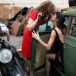Stock Photo: Vintage kiss