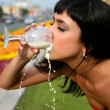 Milk and thirst - Stock Photo