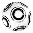 Modern soccer game ball — Stock Photo