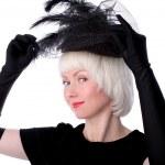 mooie vrouw in retro stijl — Stockfoto #2780531