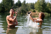 Photo in water — Stock Photo