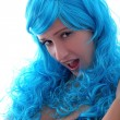 Blue hairs girl — Stock Photo #2827066