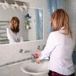 Blonde in bathroom — Stock Photo #2827334