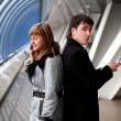 Man and woman calling - Stock Photo