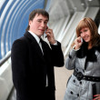 Man and woman calling — Stock Photo #2849479