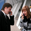 Man and woman calling — Stock Photo #2849729