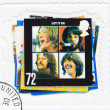 Stock Photo: Stamp vinyl Let It Be of Beatles