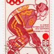 Hockey player in winter Olympics games — Stock Photo