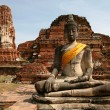 Постер, плакат: Monuments of buddah ruins of Ayutthaya