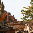 Monuments of buddah, ruins of Ayutthaya — Photo