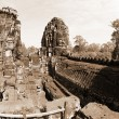 Bayon Temple at Angkor Thom, Cambodia - Stock Photo
