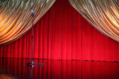 Retro elegant theater with microphone — Stok fotoğraf