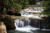 Waterfall in Thailand, Kanchanaburi NP — Stock Photo