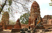 Monuments of buddah ruins of Ayutthaya — Stock Photo