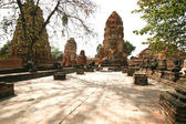 Monuments of buddah in Ayutthaya — Stock Photo