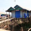 Cambodian house at Tonle Sap — Stock Photo