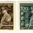 Vintage stamp 1944 year, of Hitler — Stock Photo