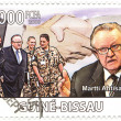 Royalty-Free Stock Photo: Stamp with Martti Ahtisaari