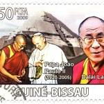 Постер, плакат: Dalai Lama and Papa John Paul II