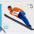 Ski jumper in Olympic games in Innsbruck — Stock Photo