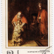 Rembrandt  - Returning of  prodigal son — Stock Photo