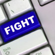 Fight button on a computer keyboard — Foto de Stock