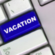 Conceptual Image for workers about to sign off and go on their summer holidays annual vacation — Stock Photo