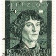 Old stamp of Nicolaus Copernicus — Stock Photo