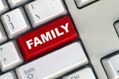 Family button on a computer keyboard — Stock Photo