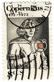 Stamp USA of Nicolaus Copernicus — Stock Photo
