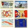 Stamps of Cuba with politics — Stock Photo