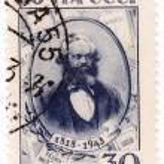 Постер, плакат: 125 anniversary Karl Marx