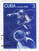 Astronaut in Cosmos — Stock Photo