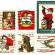 Classical stamps USA christmas — Stock Photo