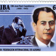 Royalty-Free Stock Photo: Cuba stamp with Jose Raul Capablanca