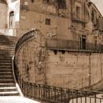 Old Italy ,Sicily, Ragusa city — Stock Photo