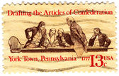 Drafting the Articles of Confederation — Stock Photo