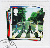 Stamp with famous group The Beatles — Foto de Stock