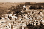 Old Italy ,Sicily, Ragusa city — Stock Photo