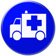 Ambulance glossy icon - Stock Photo