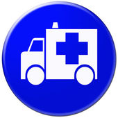 Ambulance glossy icon — Foto Stock