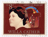 Willa Cather American novelist — Stock Photo