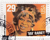 Blues singer Ma Rainey — Stock Photo