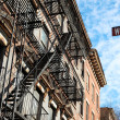 Old house on Water Street, New York - Foto Stock