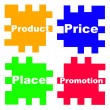 Concept the 4P's of Marketing — Stock Photo
