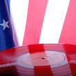 Old Vinyl with USA flag — Stock Photo #2995715